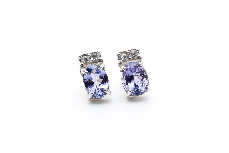 biżuteria tanzanit - kolczyki